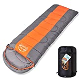 LATTCURE (Camping Gear Lowest Price Ever 3 Seasons Sleeping Bag with Compression Sack Single(75'+12') x33, Inflatable Sleeping Pad, Hammock Comfort Portable Lightweight