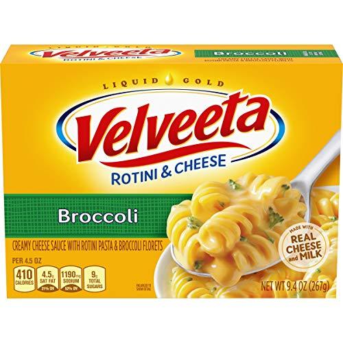 Velveeta Rotini & Cheese with Broccoli, 9.4 Ounce, Pack of 12 (Cheese Sauce For Broccoli With Cheese Whiz)
