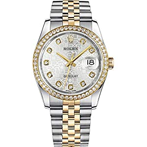 Best Epic Trends 51Ozg1pa05L._SS300_ Rolex Datejust 36 Silver Jubilee Dial Yellow Rolesor Luxury Watch Ref. 116243