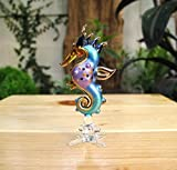 Handmade Sea Horse Art Glass Blown Sea Animal Figurine