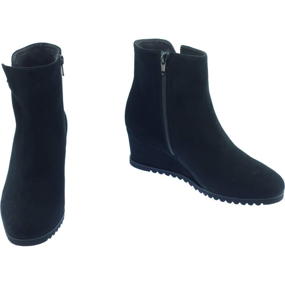 4252ec522c42 PLUMERS COUTINES Bottine Talon Compensée Boots Tendance Marque Chaussures  Femme Petites Pointures Tailles Cuir Velours Noir  Amazon.fr  Chaussures et  Sacs