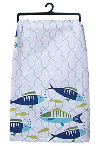 Kay Dee Designs R4093 Saltwater Fish Krinkle Flour Sack Towel, 3 (Fish Flour)