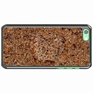 iPhone 5C Black Hardshell Case masking stones eyes snake Desin Images Protector Back Cover