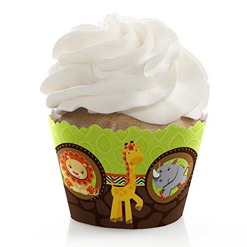 Funfari - Fun Safari Jungle - Baby Shower or Birthday Cupcake Wrappers - Set of (Jungle Cupcake Liners)