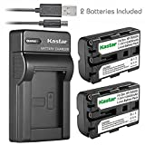 Kastar Battery (X2) & Slim USB Charger for Sony NP-FM500H, NPFM500H and Sony Alpha SLT A57 A58 A65 A77 A77V A77II A99 A350 A450 A500 A550 A700 A850 A900 CLM-V55 DSLR Camera & VG-C77AM Grip