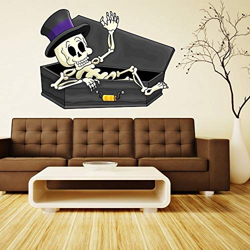 Stickalz llc Funny Skeleton Haloween Full Color Wall Decal Sticker K-197 FRST Size -