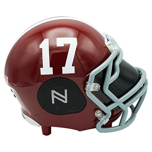 Nima Athletics Portable Bluetooth Speaker, [Officially Licensed] NCAA College Football Helmet Wireless Stereo Speaker Built-in Mic, Loud HD Sound Bass - 5