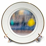 3dRose Alexis Photography - Abstracts - Image of soft blurry colorful reflections in a curtained glass window - 8 inch Porcelain Plate (cp_285871_1)