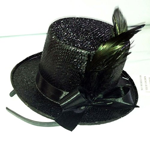Witch Mini Glitter Top Hat (Mini Glitter Top Hat On Headband Mini Top Hat Dancers Top Hat Recital Hat)
