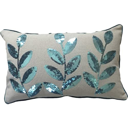 Teal Decorative Bed Pillow Amazon Magnificent Teal Decorative Bed Pillows