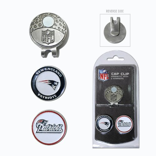 Team Golf NFL Marker Cap Clip - 2 Pack ColorSize - New England Patriots - 2 Pack by Fanzz