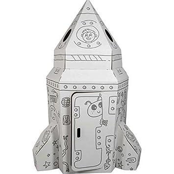 Small Foot 10018 - Casa de cartón con Forma de Cohete: Amazon.es: Juguetes y juegos