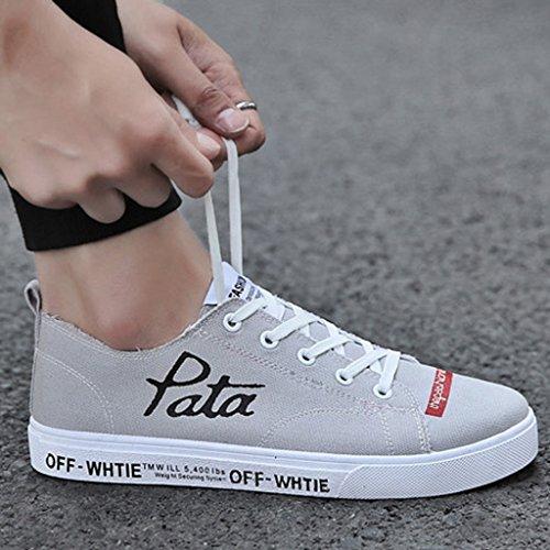 Scarpe 43 scarpe da coreano Gray da tela tendenza Espadrillas basse Red stile uomo uomo scarpe casual estiva scarpe YaNanHome da Color snowboard Scarpe di selvatici Size traspirante Ox4Xnnw8