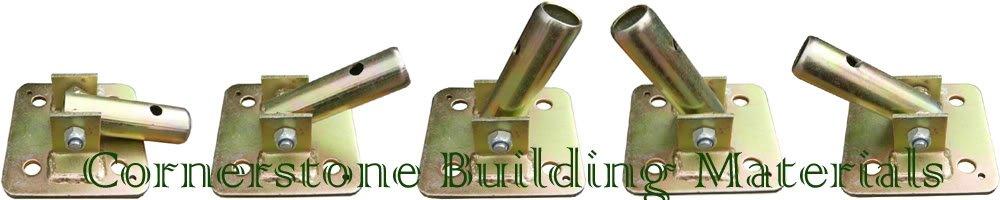 CBM Brand New Set of 4 Galvanized Swivel Base Plates 5 1/2'' X 5 1/2'' Scaffolding CBM1290