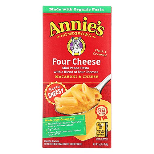 Annie's Homegrown Macaroni & Cheese; Four Cheese - (Case of 12 - 5.5 oz) by Annie's Homegrown (Image #1)