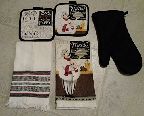 Set Of 4 Piece Italian Kitchen Towels And Potholders By True Living