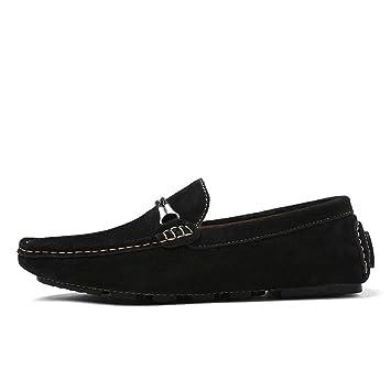 Xiaojuan-shoes,, Los Mocasines Ligeros de Estilo británico de conducción para Hombres Son Informales y cómodos con Mocasines de Barco cómodos (Opcional de ...