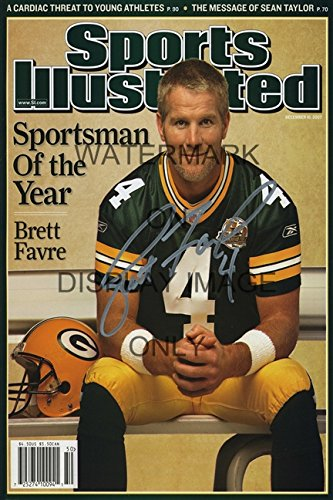 Brett Favre Sports Illustrated Autograph Replica Poster - Sportsman of the - Favre Wall Brett Poster