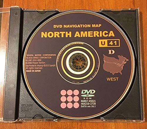 Toyota Lexus Scion Gen 5 Navigation Latest 2016-2017 Map Update DVD U41 Version 16.1 North America (Released in March 2017) (Dvd Navigation Map North America)