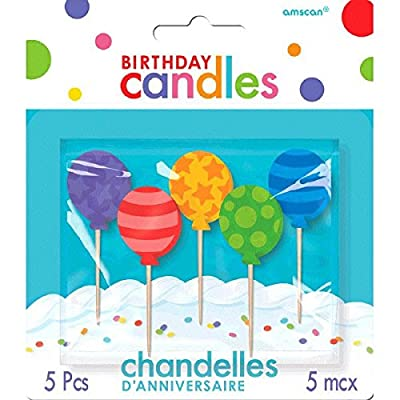 Molded Balloon Birthday Candles | Party Supply: Kitchen & Dining