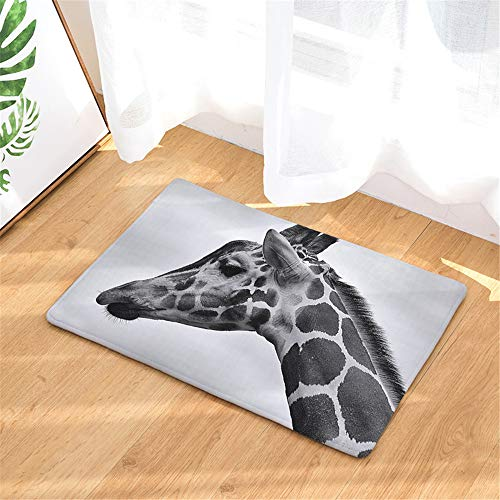 African Giraffe Door Mat, Classic Intertwined Rope Design Water Door Mat for Entrance, Garage, Patio, High Traffic Area
