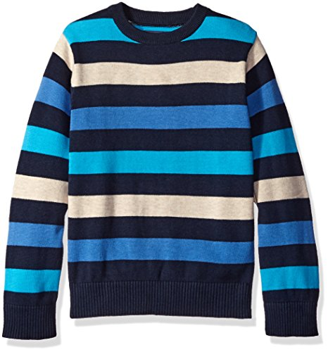 The Children's Place Boys' Big Boys' Multi Stripe Sweater, Tidal, Medium/7/8
