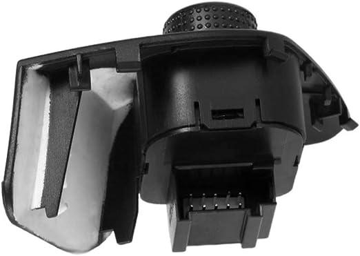 Äußere Seitenspiegel Anpassen Schalter Knopf Taste Kompatibel Mit Ibiza 2009 2015 6j1959565 Schwarz Auto