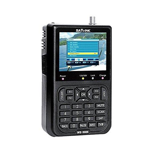 Signal Detector, KKmoon SATLINK WS6908 3.5in LCD Display Data Digital Satellite Signal Finder Meter