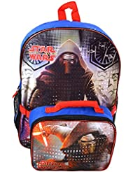 Star Wars Ep7 16 Backpack with Lunch Kit with Sublimation Printing