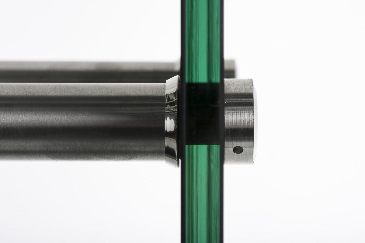 CLP Kaminholzregal//Kaminholzst/änder Dacio Schwarzglas I stabile Konstruktion I Holzlager I modernes Glasregal mit Bodenschonern Strebenfarbe Metall Schwarz 35x60x125 cm