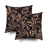 ROOLAYS Decorative Throw Square Pillow Case Cover 18X18Inch,Cotton Cushion Covers floral pattern Both Sides Printing Invisible Zipper Home Sofa Decor Sets 2 PCS Pillowcase