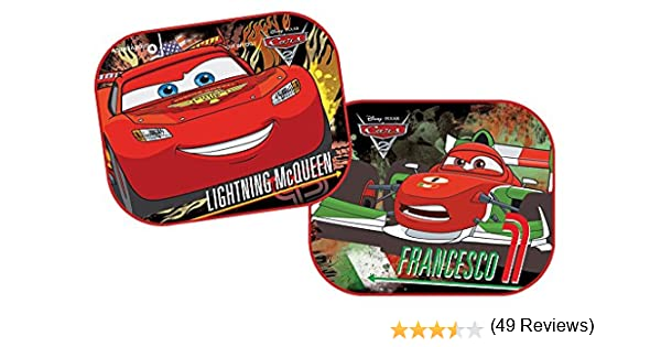 Disney 28306 Cars - Parasol para coche (2 unidades, 44 x 35 cm) con diseño de Rayo McQueen y Francesco: Amazon.es: Coche y moto