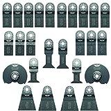 26 x TopsTools UNKA26A OMT Mix Blades for Bosch, Fein Multimaster, Multitalent, Makita, Milwaukee, Einhell, Ergotools, Hitachi, Parkside, Ryobi, Worx, Workzone Multitool Multi Tool Accessories