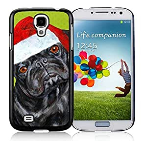 Diy Design Samsung S4 Protective Skin Cover Christmas Dog Black Samsung Galaxy S4 i9500 Case 1