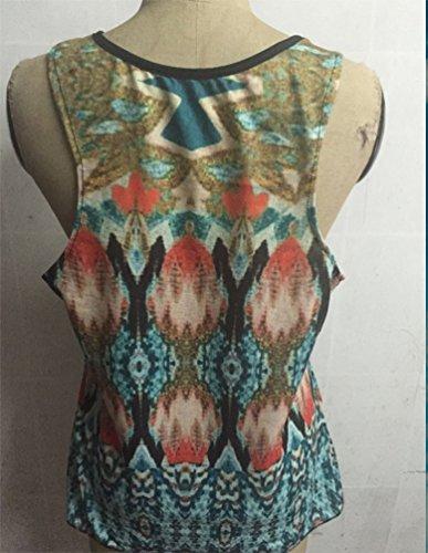 Cuello Retro Sin Impresión Camiseta Ocasionales Top Camisetas Como Imagen Mangas Mujeres ZKOO Blusa Verano V La wqUI5ggCa
