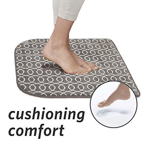 MICRODRY, Memory Foam Anti Fatigue Cushion, Grey Pattern - Pattern Cushion