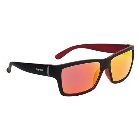 ALPINA Gafas de Sol Kacey - Espejo S3 Negro Mate/Rojo ...