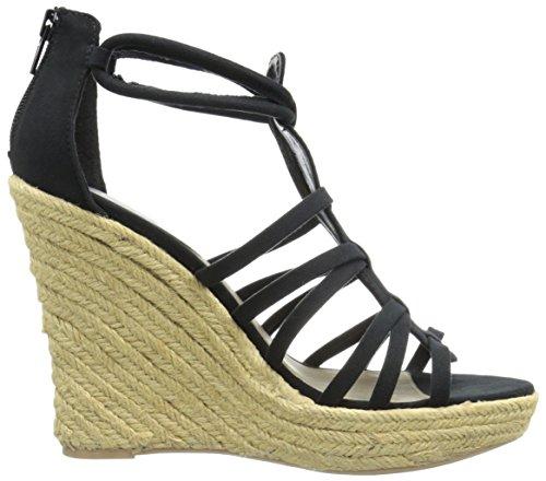 Black 23 Qupid Women's Sandal Wedge Resort xA1A06wq