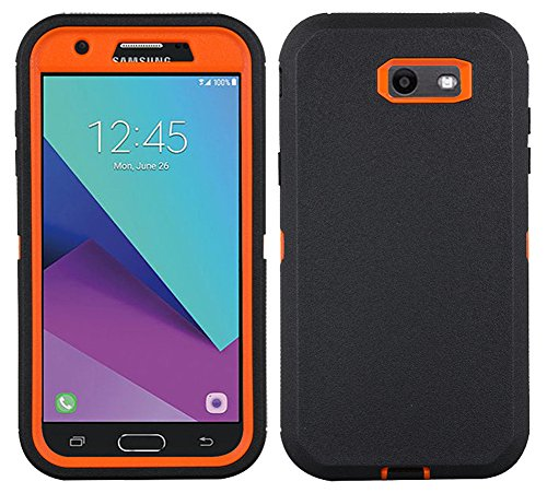 Annymall Galaxy J3 2017 Case, [Heavy Duty] Built-in Screen Protector Tough 4 in1 Rugged Shorkproof Cover for Samsung Galaxy J3 2017/Galaxy J3 Emerge/Galaxy J3 Prime - Without Kickstand]()