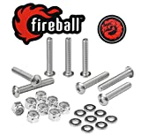Fireball Dragon Stainless Steel Skateboard Hardware Set (Button Allen, 1.25')