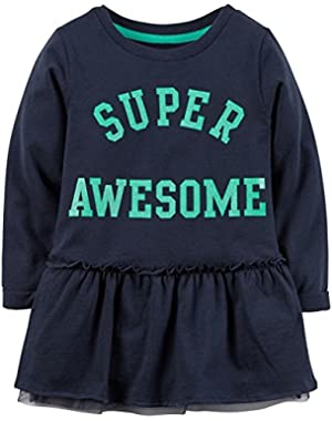 Baby Girls' Slogan Tunic (Bay)
