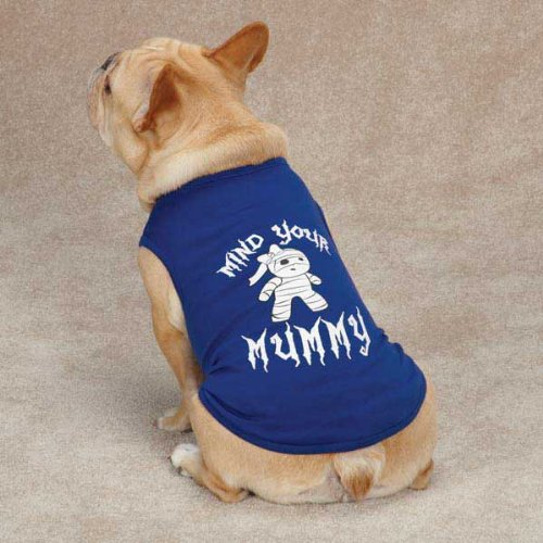 bluees & Purples Large bluees & Purples Large Casual Canine Mind Your Mummy Tee for Pets, Large, bluee