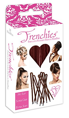 - Frenchies Ultra Flocked Extra Soft French Twist Hair Pins: The French Hair Pins for Buns, Updo Hairstyles, Hair Extensions + Wigs - 20 Count Red