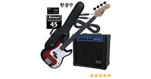 Harley Storm PB-20SBPACK2 Pack de bajo electrico con amplificador: Amazon.es: Instrumentos musicales