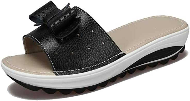 Bowknot Low Heel Platform Sandal
