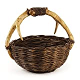 Caribou Round Basket w Handle
