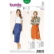 Burda Ladies Easy Sewing Pattern 6571 Mock Wrap Skirt with Flounce