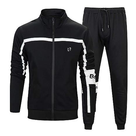 087ef10f42ac0 Amazon.com : LBL Men's Athletic Tracksuit Jacket & Pants Full Zip ...