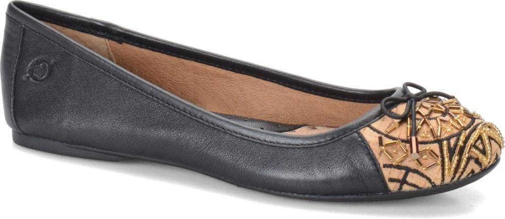 Born Women's Karmina Ankle-High Leather Flat Shoe B00LB2T66A 9.5 B(M) US|Black Nappa