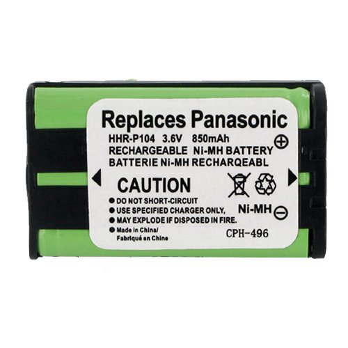Panasonic KX-TG2313 Cordless Phone Battery Ni-MH, 3.6 Volt, 850 mAh - Ultra Hi-Capacity - Replacement for Panasonic HHR-P104 Rechargeable Battery Empire CA-160140-EM-CPH-496